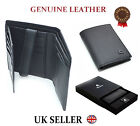 MENS DESIGNER QUALITY REAL LEATHER WALLET CREDIT CARD CASH COIN PURSE GIFT BOX