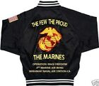3RD MARINE AIR WING MIRAMAR NAVAL AIR IRAQEMBROIDERED 2 SIDED SATIN JACKET