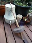AAFA antique PRIMITIVE drop spindle American folk art 1800's~sewing~spinning OLD