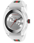 Gucci SYNC YA137102 White Rubber Band Watch New , Unworn , With Box And Papers!