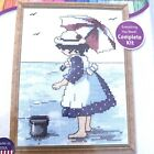 Janlynn At The Beach Counted Cross Stitch Kit NEW 999 7202 Girl Needlecraft
