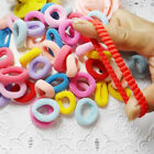 100pcs Kids Girls Elastic Scrunchies Rubber Hair Ties Ponytail Holder Band Rope