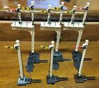 6 HO Scale Hornby Train Signals