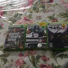 Used MADDEN NFL O7, grand the ft auto IV, tenchu Z x box 360 games