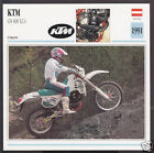 1991 KTM GS 600cc LC4 (553cc) Austria Enduro Bike Motorcycle Photo Spec Card
