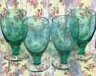 Wine Glasses Set Of 4 Depression Glassware Vintage Retro 5 1/4