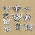Antique Silver Plated Butterfly Charm for Jewelry Making Bracelet Accessories