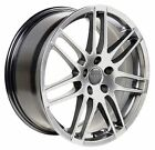 18x8 Wheels Fit Audi RS4 Style Hyper Silver Rims SET OEW