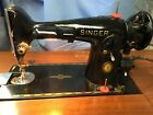 1951 Singer Antique Sewing Machine with Cabinet Model 201-2 KNEE LEVER CONTROL