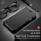 For Samsung Galaxy J6 J4 Business Stand Luxury Leather Flip Case Skin Cover