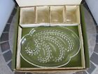 Federal Glass Hospitality Snack Set of 4 Homestead Wheat with Green Box