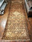 VINTAGE COLLECTIBLE PERSIAN WOOL HAND LOOMED HERIZ RUNNER 3.6X10.4FT RUG K14