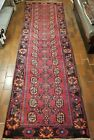 VINTAGE COLLECTIBLE PERSIAN WOOL HAND LOOMED HERIZ RUNNER 3.1X10.3FT RUG K16