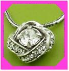 BRIGHTON ETERNITY KNOT Clear Crystal PETITE Love N ECKLACE NWtag $56