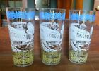 Set of 3 Vintage Hazel Atlas Drinking Glasses Tumblers Americana Honeymooning