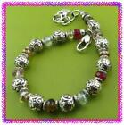 BRIGHTON LATIKA Red Colorful Glass Bead Silver BRACELET NWotag