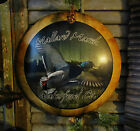 Primitive Antique Vtg Style HUNTING Mallard DUCK SEASON Dome Tin SIGN Gift Idea