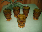 Lot of (5) Vintage Indiana Glass Amber Juice/Water Glass 8 oz Ex Cond