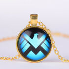 Women Fashion Jewelry Charm Round Cabochon photo Pendanr Gold chain Necklace