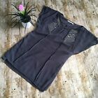womans zara grey dress with beaded detail size Small Shift 10 12 KNEE LENGTH