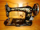 ANTIQUE SINGER SEWING MACHINE MODEL VS2 FIDDLEBED  PAINTED ROSE SERVICED