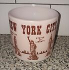 Vintage Federal Glass PINK New York City Souvenir Mug with Tourist Attractions