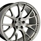 20x9 Hyper Black Challenger Hellcat Style Wheels Rims Fits Dodge Charger 300C