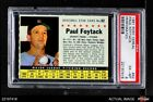 1961 Post Cereal #62 Paul Foytack Perforated Indians PSA 6 - EX MT