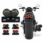 12V Motorcycle LED Dual Tail Turn Signal Brake License Plate Integrated Light