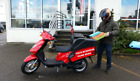NEW 50CC Delivery Moped 2018 TGB Express 49CC RED 2 Stroke Scooter