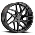 20 BLAQUE DIAMOND BD3 BLACK CONCAVE WHEELS RIMS FITS LEXUS LS430