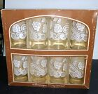 8 Anchor Hocking Gift Collection 12.5 Oz Beverage Tumblers White Roses/Paisley