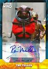 Ross Mullan as The Teller Base Autograph/Signature Near Mint Topps Dr. Who