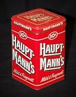 Vntage Advertising Ad 10¢ Hauptmann's Cigars Mild & Fragrant Litho Medal Tin Can