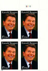 Ronald Reagan Reissue Numbered Plate Block of 4 MNH Stamps Scott 4078 Ships Free