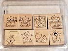 Stampin Up Retired Stamp Set of 8 Called Baby First rare