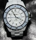 100% Authentic Chanel J12 Soft Blue H4341 Automatic 38mm White Ceramic Watch