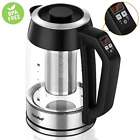 Comfee Temperature Control Glass Electric Tea Kettle with Tea Infuser Keep W