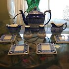 Bombay Fine Bone China Teapot CreamerSugar Dish Salt And Pepper Shakers With
