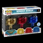 Wonder Woman Funko Pop! Chrome 3 Pack Exclusive Funko Shop SOLD OUT