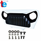 Front White Gloss Black Mean Angry Bird Grille Grill for Jeep Wrangler TJ 97 06