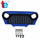 Front Blue Gloss Black Mean Angry Bird Grille Grill for Jeep Wrangler TJ 97 06