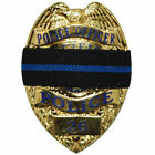 Thin Blue Line Mourning Band Memorial Badge Cover for Police Officer Reversible