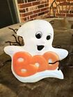 """Vintage Style Repro Halloween Cardstock Decoration Blow Mold Ghost BOO, 8"""""""