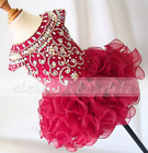 In Stock Little Princess Dress Formal Prom Bll Gowns Kid Tutu Dress Knee Length