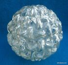 Cool Face in Icy Glass Ceiling or Table Light Globe Mid Century Modern Retro
