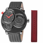 GV2 by Gevril Men's Macchina Del Tempo Watch 8302 Limited Edition Black Leather