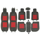 Universal 5 Seats Car Pu Leather Summer Cooling Mesh Front Rear Cover Cushion