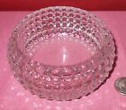 Vintage Lead Leaded HOBNAIL GLASS TRINKET CANDY BOWL DISH Heavy ^