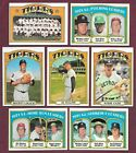 1972 Topps Detroit Tigers Complete Team Set Kaline Horton Brown Lolich EXMT (31)